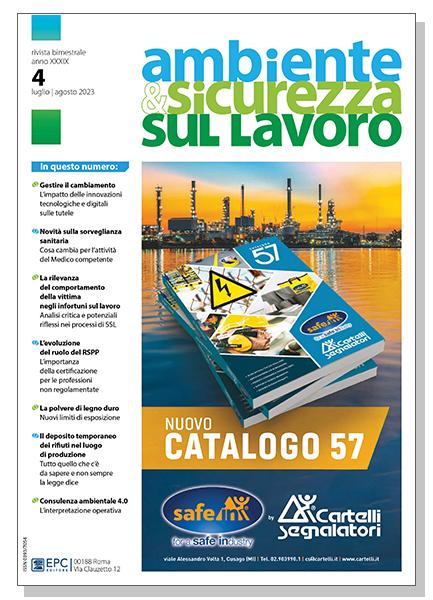 Rivista Ambiente e Sicurezza sul Lavoro